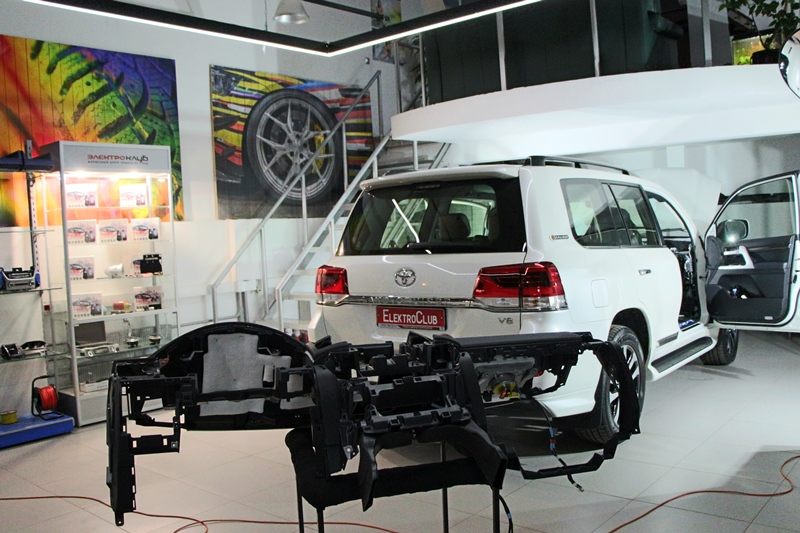 Штыри в двери на Toyota Land Cruiser 200